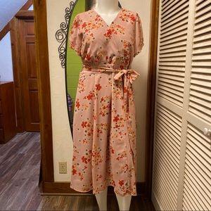 New eShatki Dusty Pink Floral Dress 16W